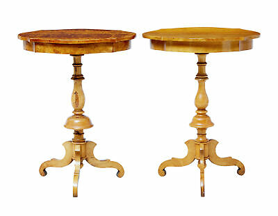 Matched Pair Of 19Th Century Swedish Birch Occasional Tables