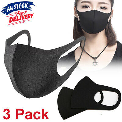 1/3Pcs Anti Dust Mask Surgical Cycling Respirator Washable Mouth Face Mask