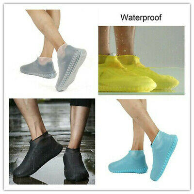 1Pair Silicone Overshoes Rain Waterproof Shoe Covers Boot Cover Shoes Protector