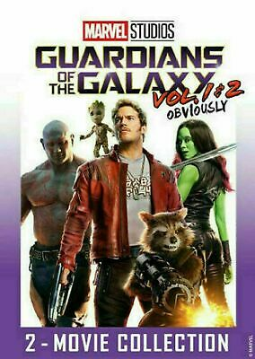 Guardians of the Galaxy Vol. 1 & 2 DVD (2 Movie Collection 2019) New FREE Ship!
