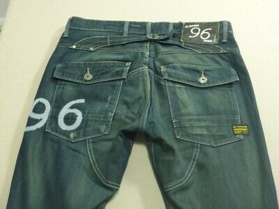 079 Mens Ex-Cond G-Star Raw Heritage Embryo Tapered Jeans Sze 33 / 32 L $260 Rrp
