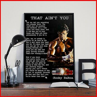 Rocky Balboa Poster That Ain't You Motivational Quote Poster Gym Decor Art US