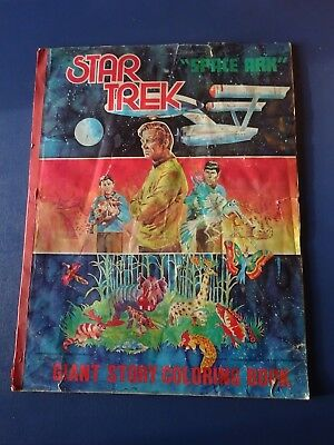 1978 Star Trek Giant Coloring Book, Space Ark, Mostly Clean