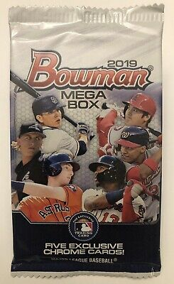 MEGA BOX PACK! 2019 Bowman Baseball Refractor!! Chrome Retail Exclusive! HOT!!