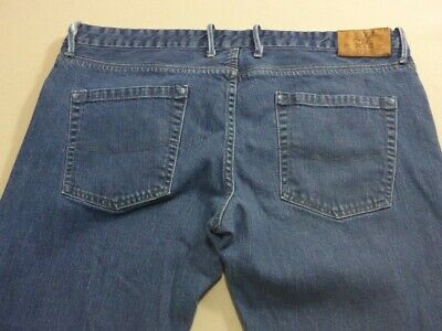 079 Mens Ex-Cond R & G Old Squaw Blue Stretch Jeans Sze 40 / 32L $200 Rrp.