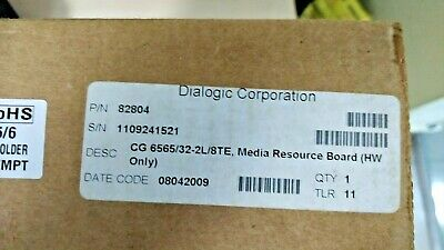 Dialogic NMS CG6565/32-2L/8TE - NEW FACTORY SEALED (82804)  (Stock -10 Units  )