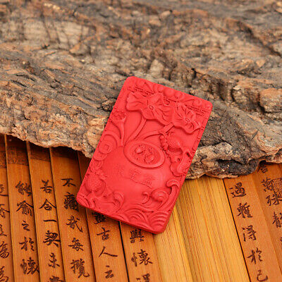 Natural Exquisite Chinese Cinnabar Hand Carving Treasure Bowl Statue Statues #