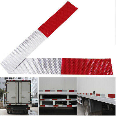 nw 15pcs Red/White Reflective Tape Conspicuity Safety Caution Warning Stickers