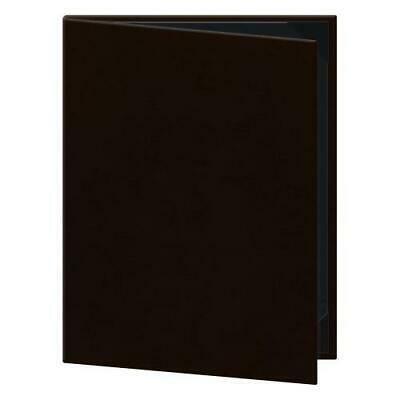 """Each Risch TAM-2V Double-Fold Menu Cover - 8.5"""" x 11"""", Soft Leather, Brown"""