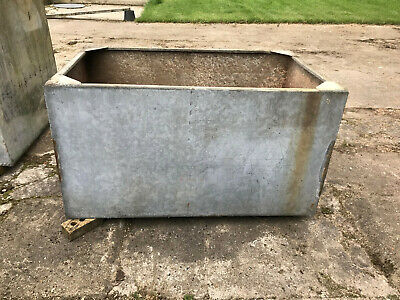 Old Galvanized Welded Metal Water Tank 60 inch x 36 inch x 32 inch deep