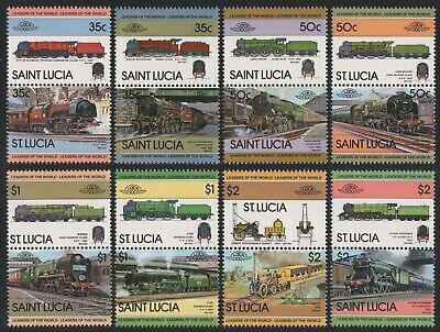 St. Lucia 1983 - Mi-Nr. 612-627 ** - MNH - Lokomotive / Locomotives