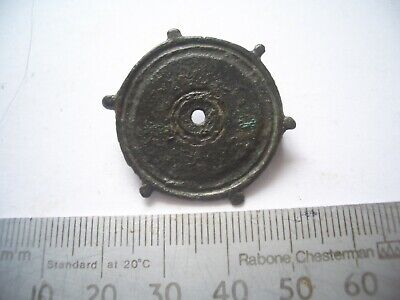 ANCIENT ROMAN PLATE DISC BROOCH  A HOUSE CLEARANCE fresh to maket find