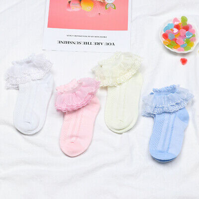 2019 Newest  Baby Girl Kids Toddler Princess Sock Lace Ruffle Frilly Ankle Socks