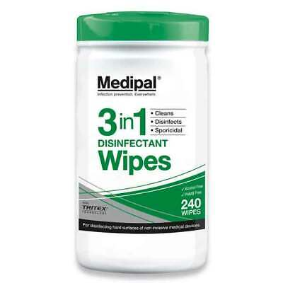 Medipal 3in1 Disinfectant Wipes (240) Cleans - Disinfects - Sporicidal - Medical