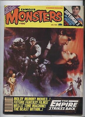 Famous Monsters of Filmland Magazine 190 Star wars empire Strikes back special