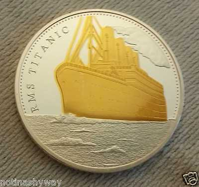 TITANIC COIN SILVER & GOLD Medal Ship Voyage Map Amazing Rare Collectable London
