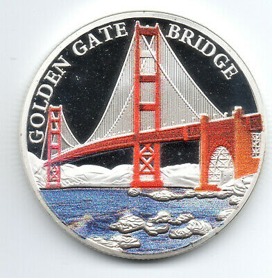 Golden Gate Bridge Gold Coin San Francisco Alcatraz Island Prisoners California