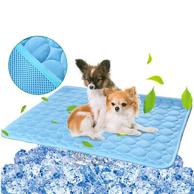 Pet Dog Summer Cooling Mat Pad for Dogs Cat Ice Silk Mat Cooling Blanket Cushion