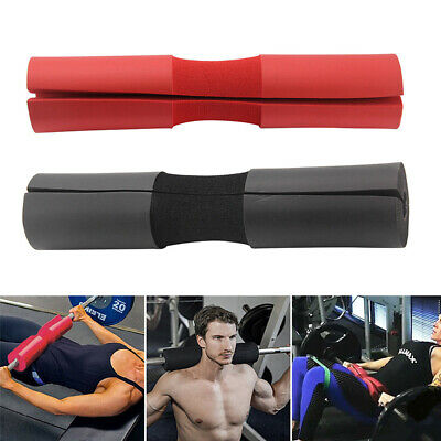 Barbell Pad Squat Bar Supports Weight Lifting Pull Up Neck Shoulder Protect UK