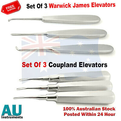 Dental Surgical Tooth Extraction Root Eevators Warwick James& Coupland Elevators