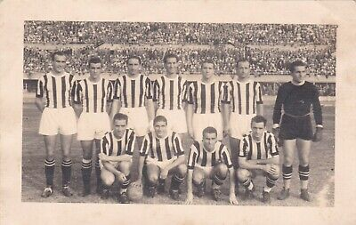 Calcio/Football Cartolina sq. JUVENTUS 1946-'47 con PIOLA, DEPETRINI originale