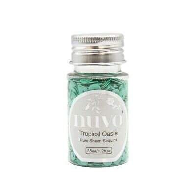 Nuvo Pure Sheen Sequins 1oz-tropical Oasis