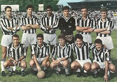 Calcio/Football Cartolina sq. JUVENTUS 1964 con NENE', DA COSTA originale