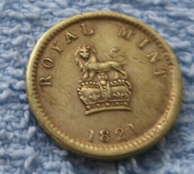1821 Half Sovereign Weight Gold Lustre Old Georgian Royal Mint Lion Crown Coin