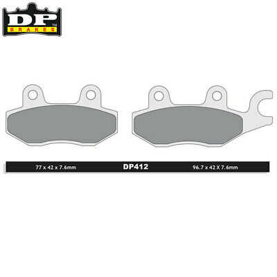 DP Sintered Off-Road Front Left Brake Pads DP412 Yamaha YFZ 450 RSEE Spec 2014