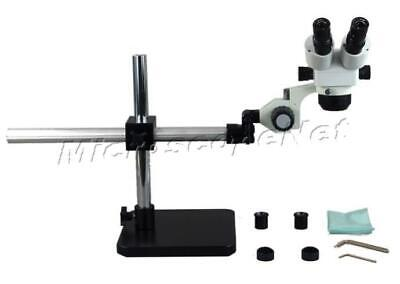 Electronics PCB Inspection Binocular Zoom 10X-80X Stereo Microscope + Boom Stand