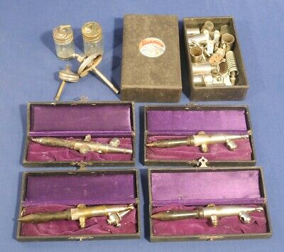 Vintage Antique Paasche Airbrush Lot Model HH + Accessories EstateFind Sold AsIs