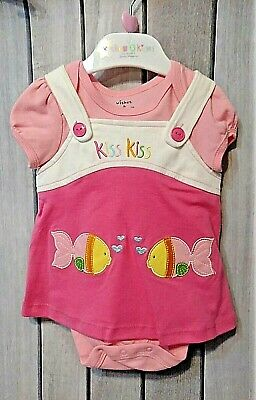 Wishes and Kisses girls two piece creeper dress set newborn nwt