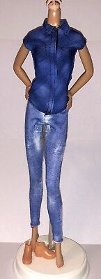 2017 BARBIE DOLL CLOTHES FASHIONISTAS Denim /& Dazzle #55 DRESS ONLY