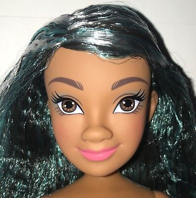 Disney Descendants 2 Under the Sea Uma Nude Jointed Fashion Doll NEW Green Hair