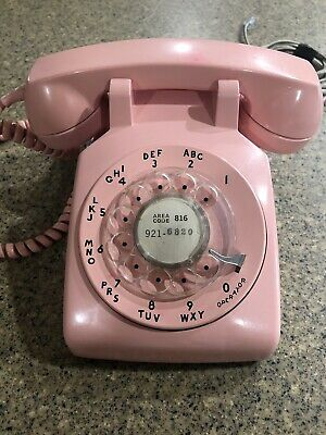 Vintage Pink Western Electric Bell System Rotary Dial Desk Telephone. Old School