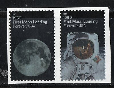 1969 APOLLO 11 *  FIRST MOON LANDING  * 50th ANNIV * U.S. Postage Stamps Pair