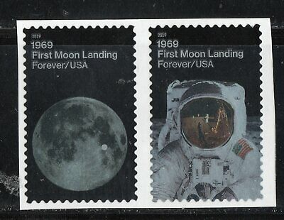FIRST MOON LANDING * APOLLO 11 * 50th ANNIVERSARY * US POSTAGE PAIR MINT