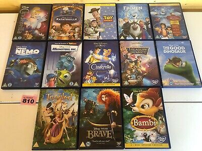 Disney DVD Bundle Job lot x 13 Classics Pixar - Toy Story Nemo Brave