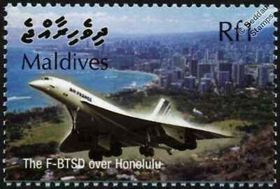 Air France CONCORDE F-BTSD (Honolulu) Supersonic Airliner Aircraft Stamp