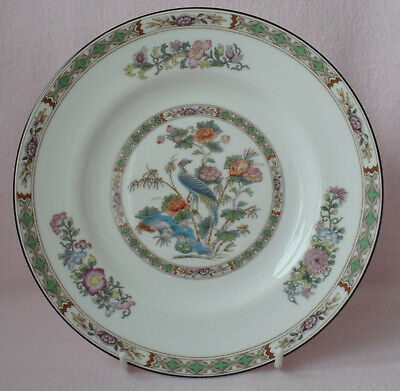 "Wedgwood England Kutani Crane Bone China 8"" Plate R4464 Bird Flowers Floral"