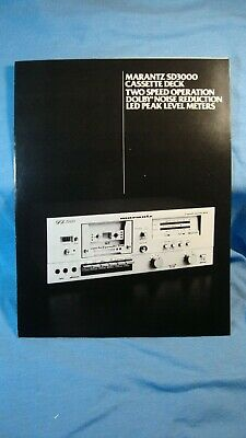 1979 Marantz SD3000 Cassette Deck Booklet with Specs