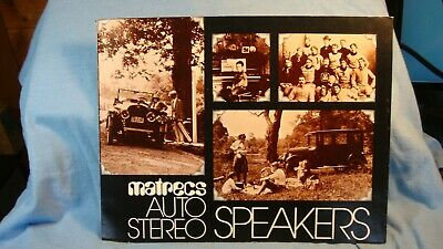 1979 Matrecs Auto Stereo Speakers with Specs Air Flex