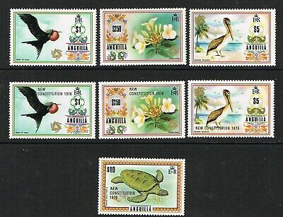 Anguilla 1972-6 selection of top values, unmounted mint/MNH, birds