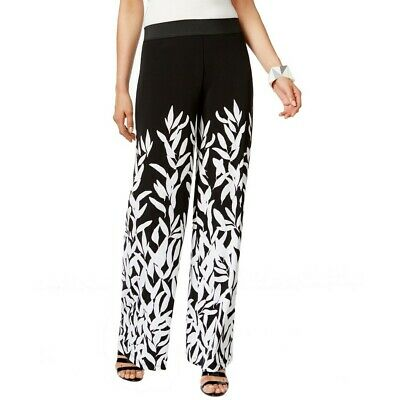 ALFANI NEW Women's Printed Wide Leg Pull On Palazzo Pants TEDO