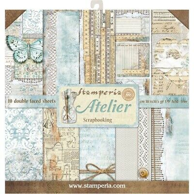 "Stamperia 12"" x12"" Paper pack ""Atelier"" 10pk"