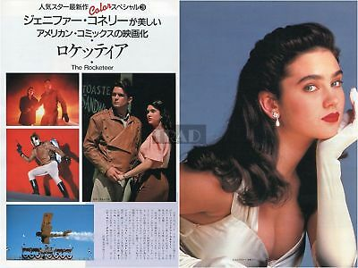 JENNIFER CONNELLY The Rocketeer 1991 Japan Picture Clippings 2-Sheets #QB/n