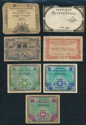 """France: 1792-2007 15 Sols to 5000 Fr """" COLLN 37 DIFFERENT"""". Pick A65-157Ad"""