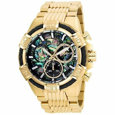 Invicta Men's 52mm Bolt Quartz Chronograph Abalone Watch Goldtone/Goldtone 26541