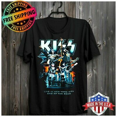 Madison Square Garden Kiss End of The Road Tour T-Shirt Rock Music Tee FREESHIP