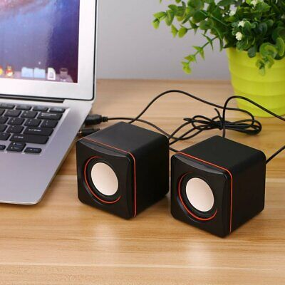 Mini Portable Square Wired USB Audio Music Player Speaker MP3 Laptop PC NC